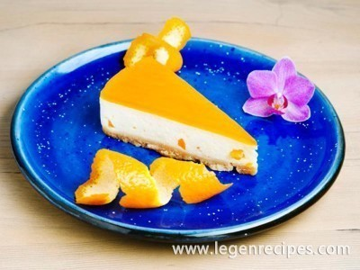 Orange cheesecake without baking