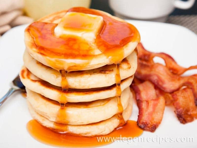 Pancakes on milk