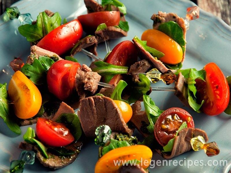 Pesto and Tomato Duck Skewers Recipe