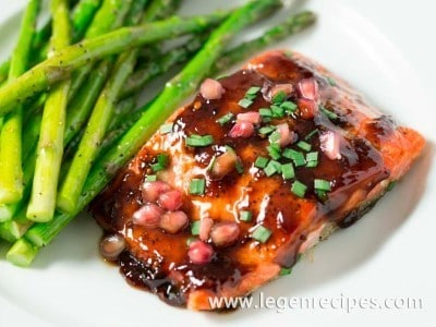 Pomegranate Soy Glazed Salmon