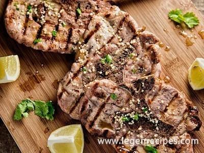 Pork Chops With Lemon-Cilantro Vinaigrette Recipe