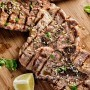 Pork Chops With Lemon-Cilantro Vinaigrette Recipe
