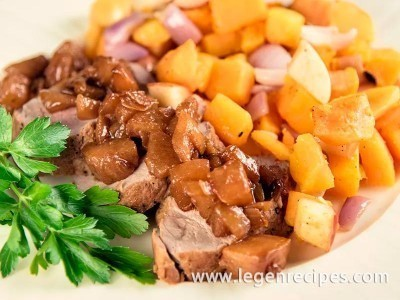 Pork Tenderloin With Pears And Roasted Butternut Squash Recipe