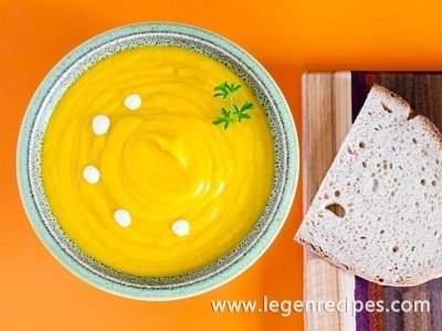 Pumpkin cream soup French recipe