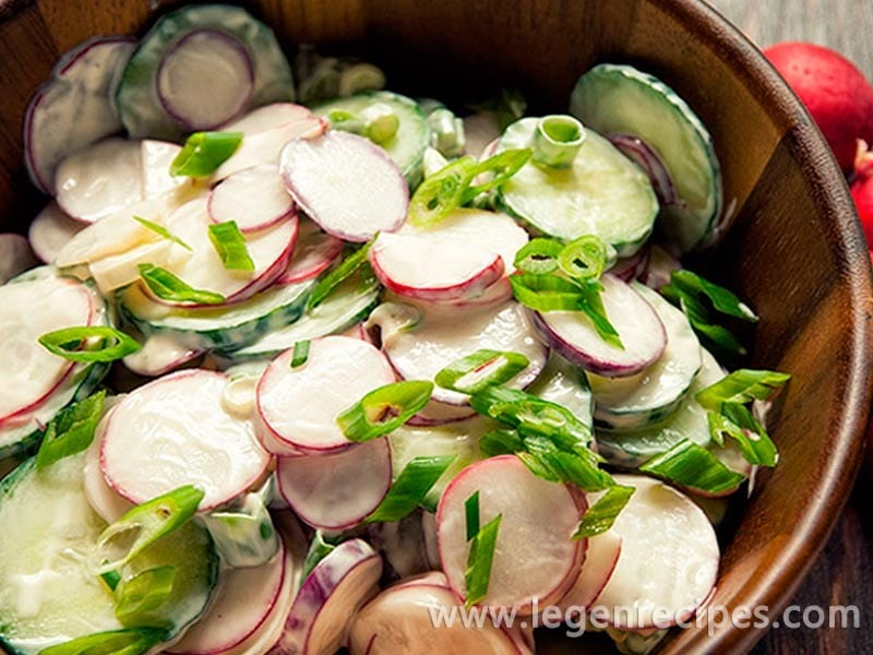 Radish and Cucumber Salad Recipe