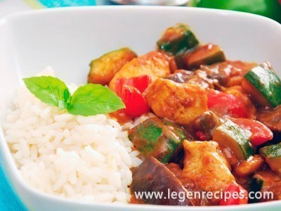 Ragout of zucchini and meat