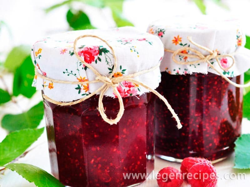 Raspberry jam: the secrets of cooking