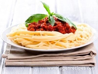 Recipe Spaghetti Bolognese