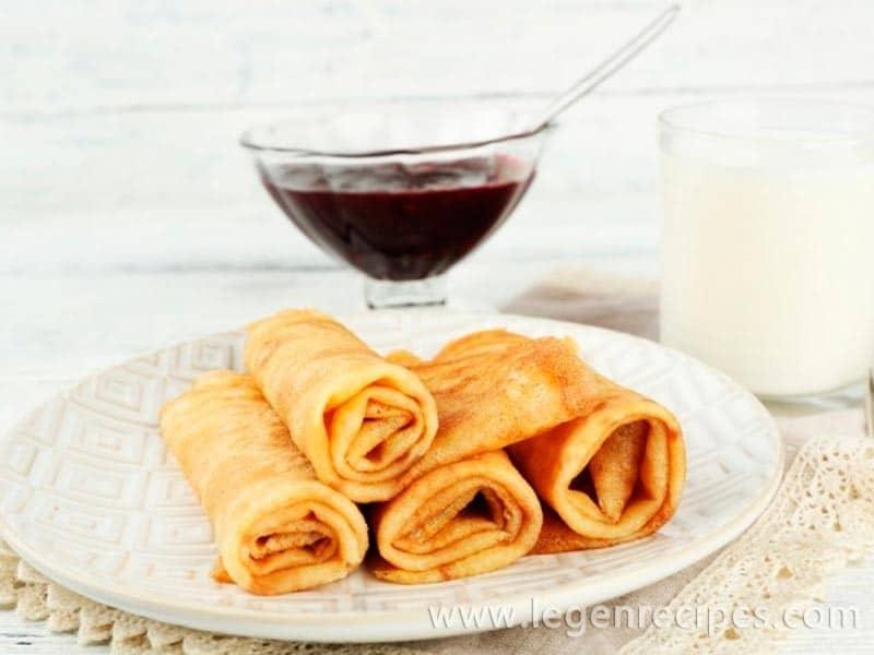 Recipe custard pancakes with kefir