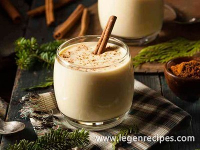 Recipe flavored eggnog for the holiday weekend