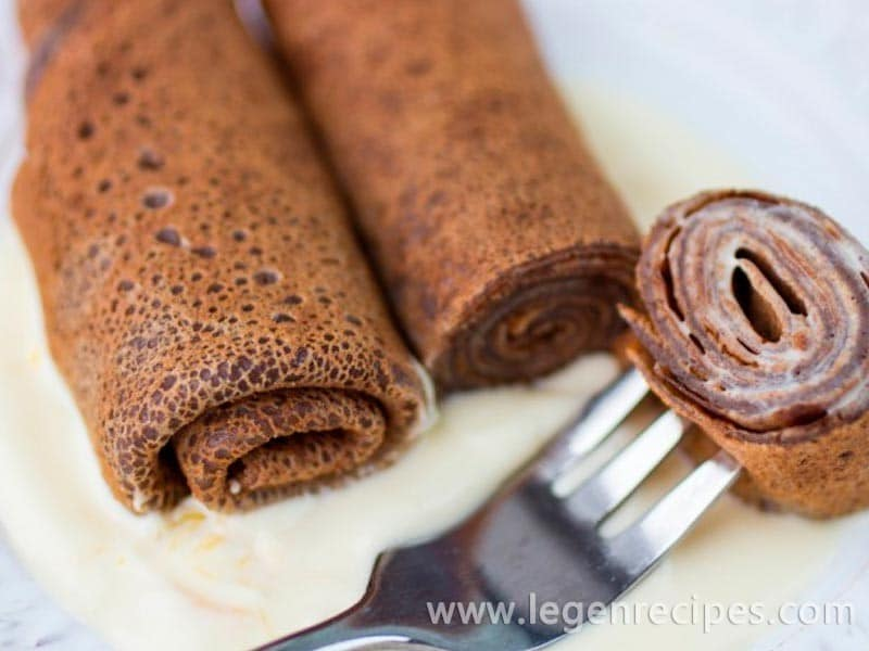 Recipe for chocolate pancakes