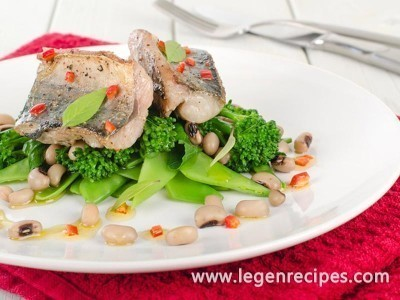 Recipe of baked fish with vegetables
