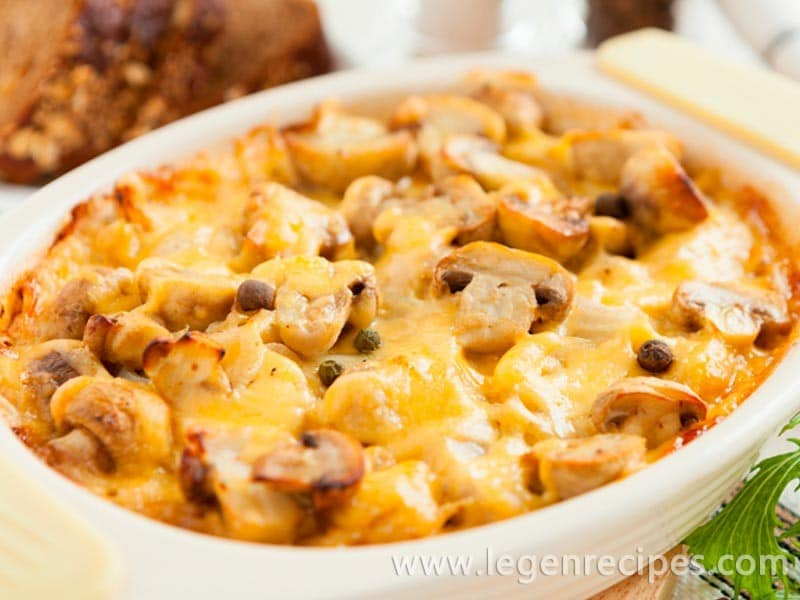 Recipe of mushroom casseroles
