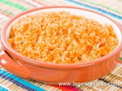 Recipe rice Mexican