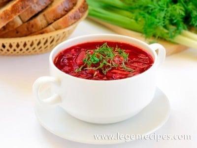 Recipe vegetarian borscht