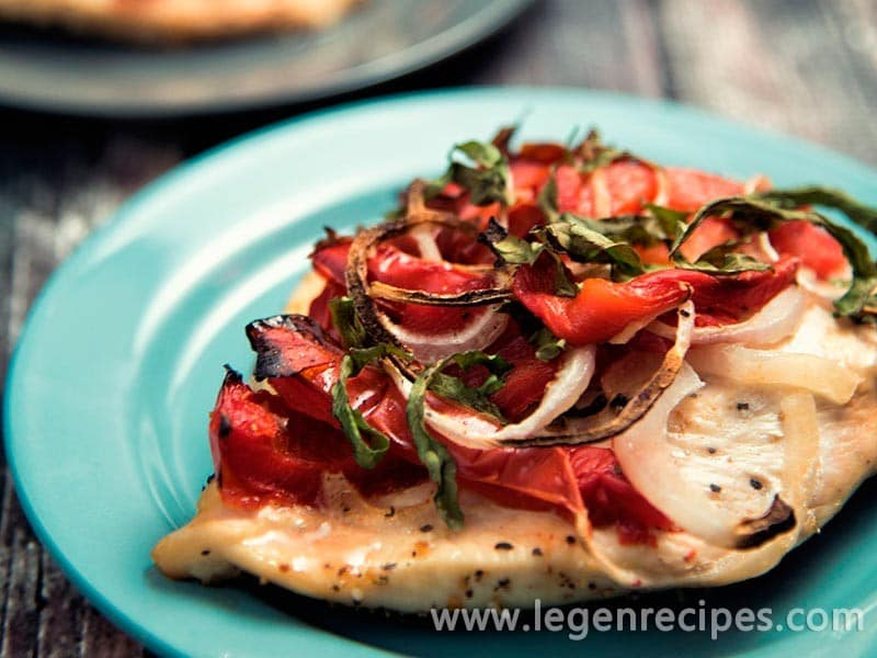 Roasted Red Pepper And Basil Chicken Recipe