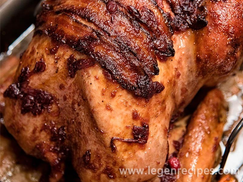 Roasted Turkey With Maple Cranberry Glaze Recipe