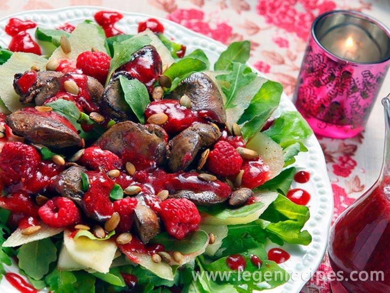 Salad of liver