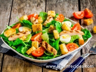 Salad recipe Caesar salad with chicken