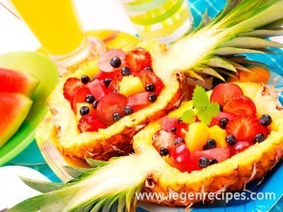 Salad recipe with pineapple