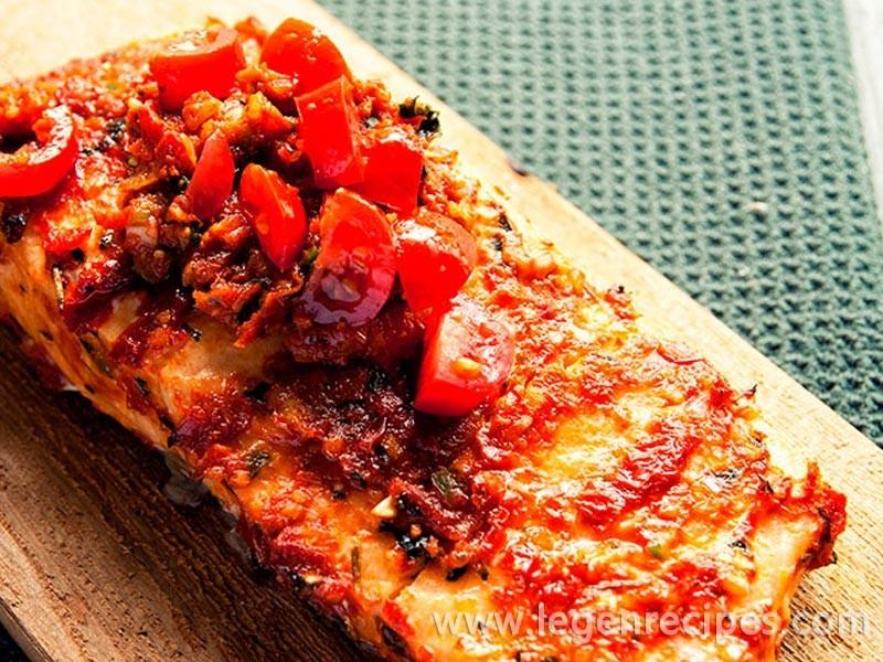 Salmon with Tomato Pesto Recipe