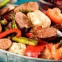 Sausage With Grilled Vegetables Recipe