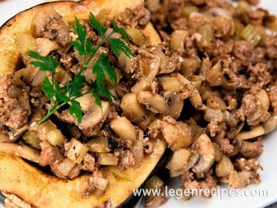 Sausage and Apple-Stuffed Squash Recipe