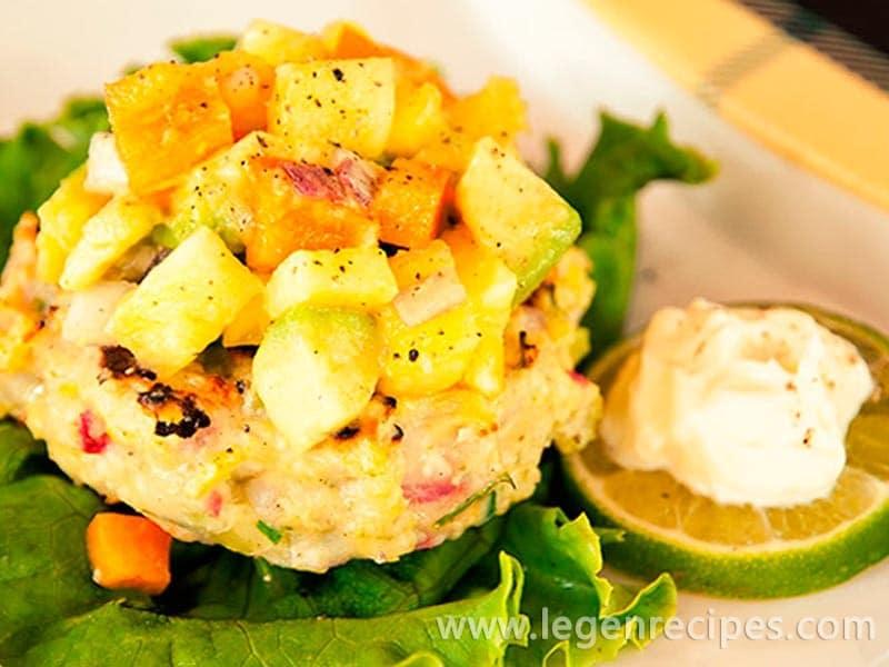 Shrimp Burgers with Pineapple-Avocado Salsa Recipe