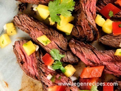 Skirt Steaks With Fresh Mango Salsa Recipe