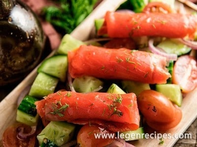 Smoked Salmon With Fresh Vegetables Recipe