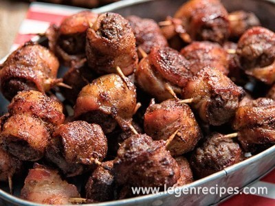 Spicy Bacon-Wrapped Meatballs Recipe