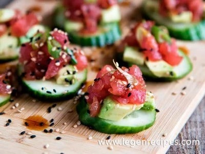 Spicy Tuna And Cucumber Bites Recipe