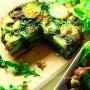 Spinach, red onion and potato tortilla