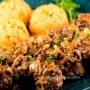 Steak Meatballs with Mashed Potatoes Recipe