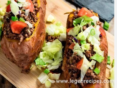 Taco-Stuffed Sweet Potatoes Recipe