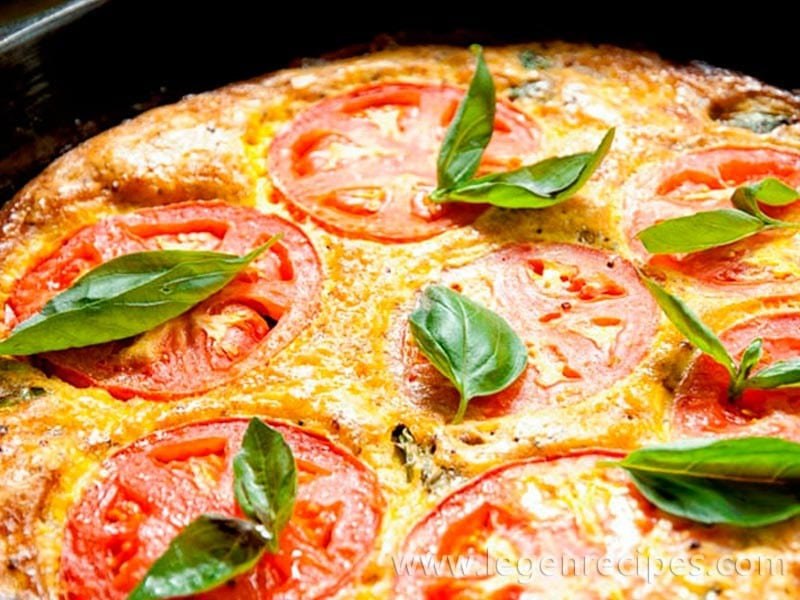 Tomato Basil Frittata Recipe