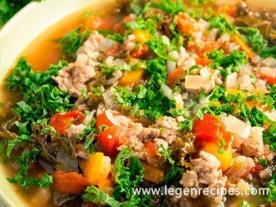 Turkey, Kale, and Cauliflower Soup Recipe