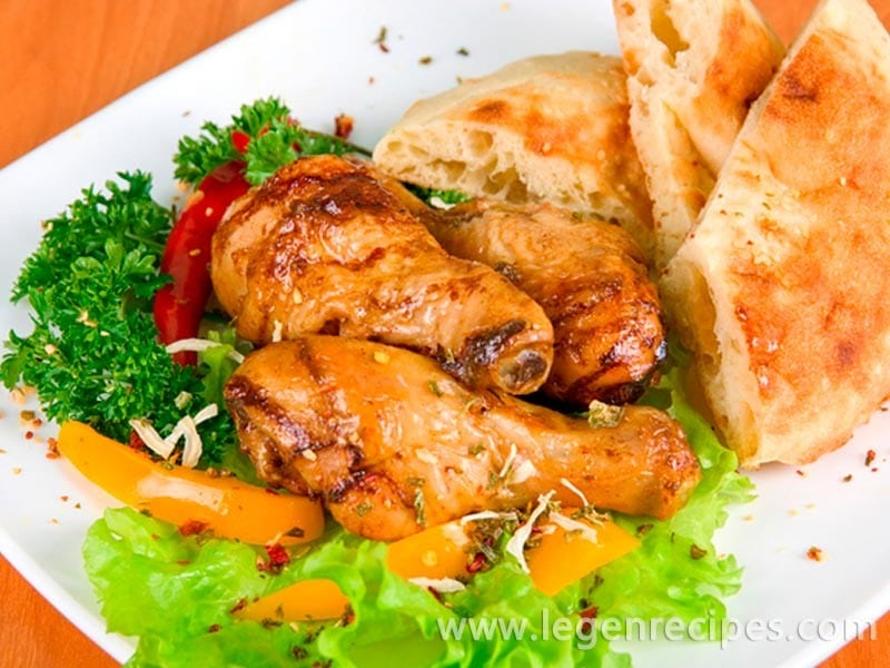 Spicy chicken legs with vegetables