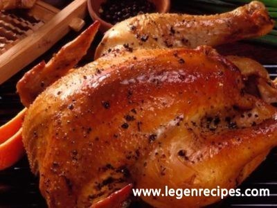 Baked chicken with oranges and ginger