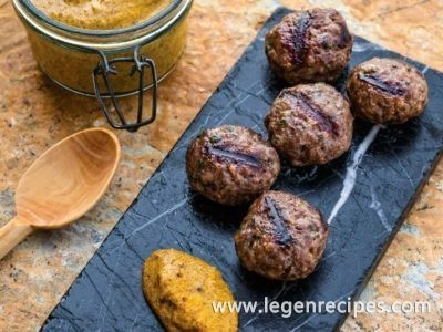 Beef and Lamb Koftas with Mustard