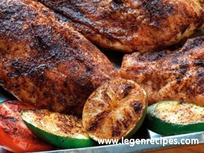 Chicken Breasts with Mole Rub