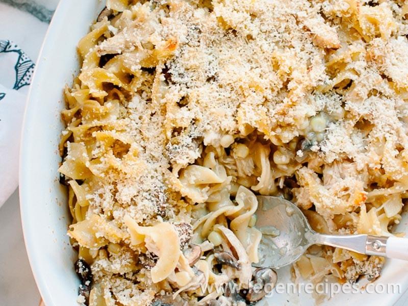 Chicken Mushroom & Corn Tetrazzini