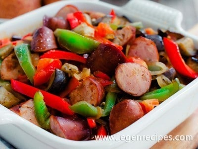 Greek-Style Sausage and Peppers