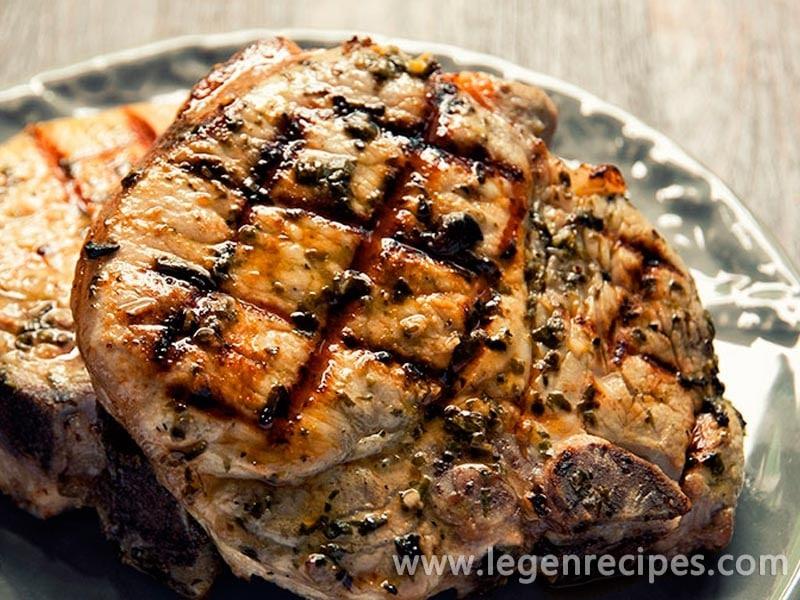 Grilled Pork With Basil Rub Recipe