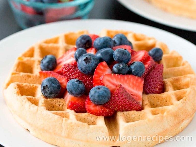 Healthier, Dairy Free Belgian Waffles