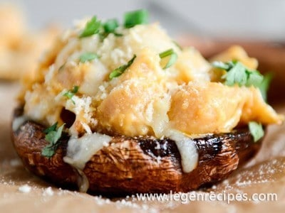 Mac and Cheese Stuffed Brown Sugar Balsamic Portobellos