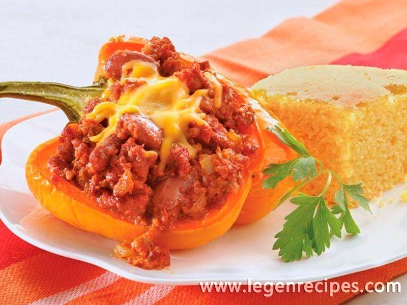 Mexican Beef and Bean-Stuffed Peppers