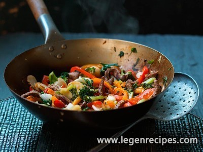 Oriental beef stir-fry