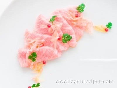 Otoro Crudo with Grapefruit Caviar
