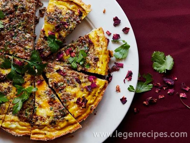 persian kuku sabzi a classic persian herb loaded egg dish with the ...
